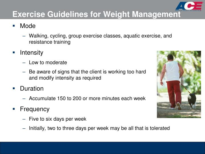 Exercise Guidelines for Weight Management