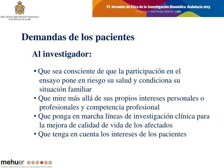 Demandas de los pacientes