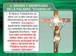 2 origen y significado de la palabra evangelio