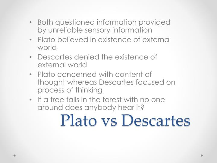 plato vs descartes What is the difference between plato and descartes thoughts about innate ideas.