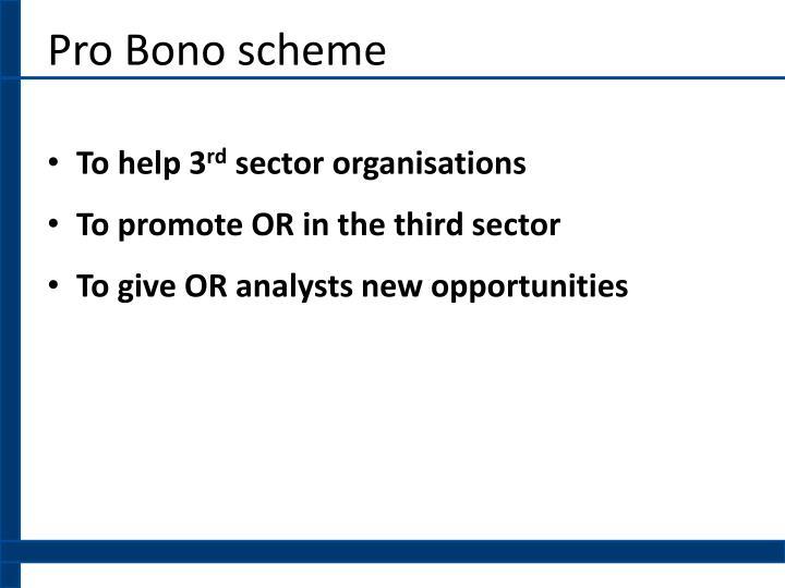 Pro Bono scheme