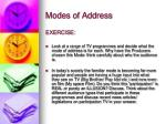 modes of address