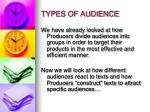 types of audience