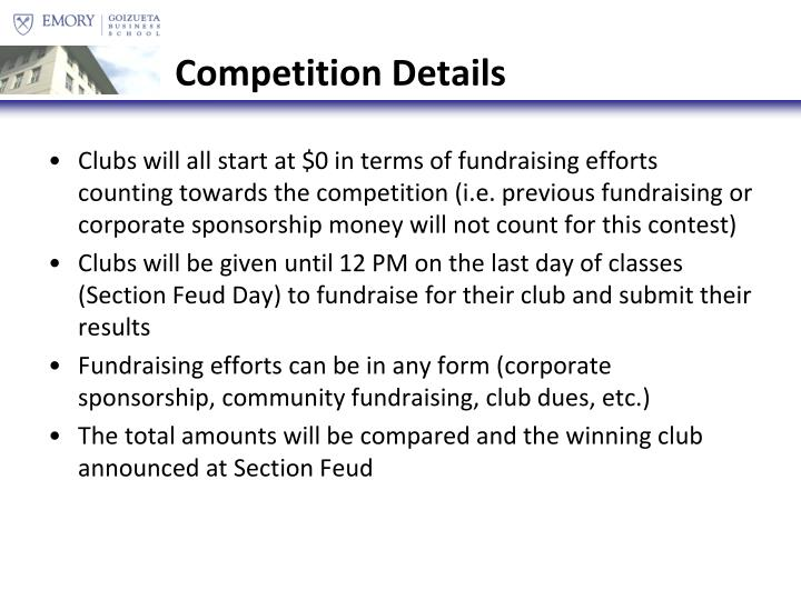 Competition Details