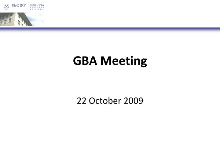 Gba meeting