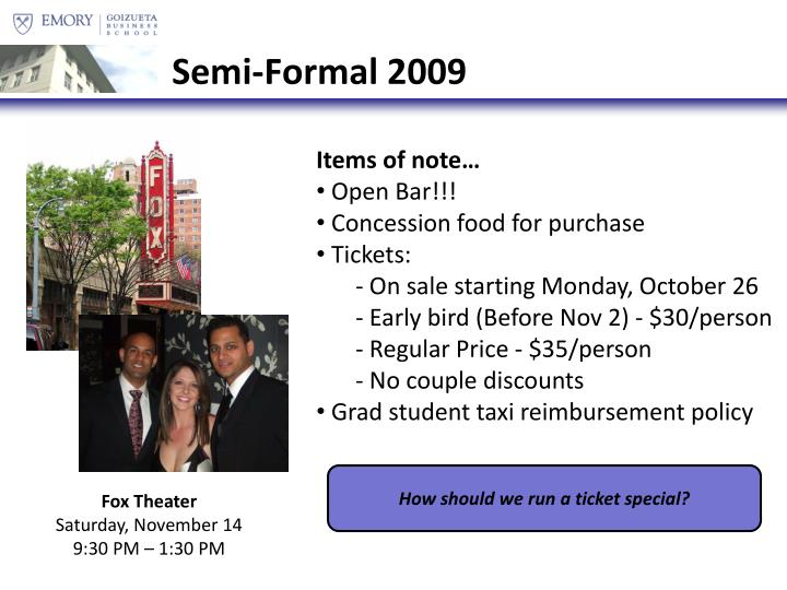 Semi-Formal 2009