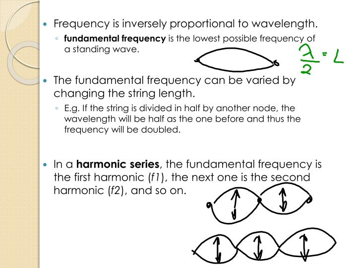 Frequency is inversely proportional to wavelength.