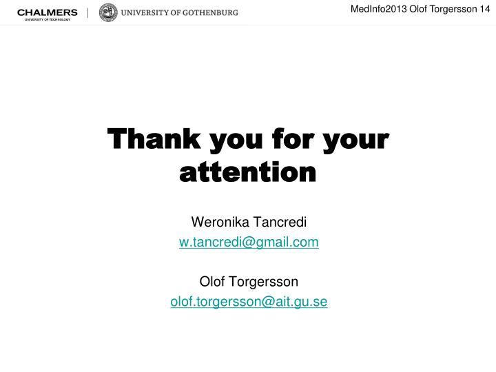 MedInfo2013 Olof Torgersson 14