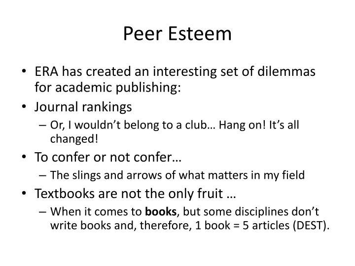 Peer Esteem