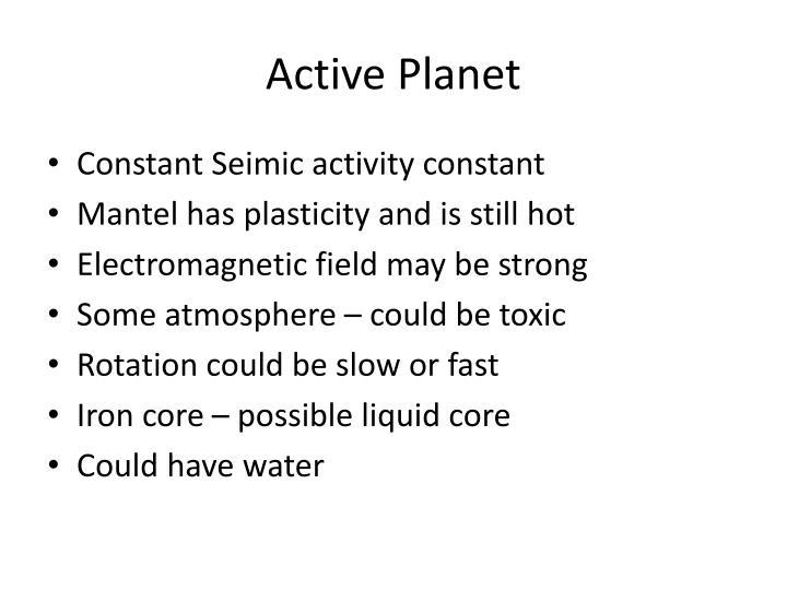 Active Planet