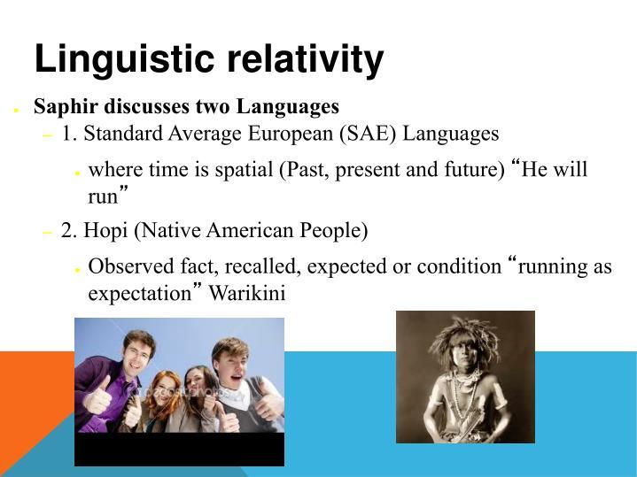investigating linguistic relativity through bilingualism Under intra-speaker relativity reexamining linguistic relativity: what adult bilinguals can teach us about culture bilingualism, linguistic relativity.