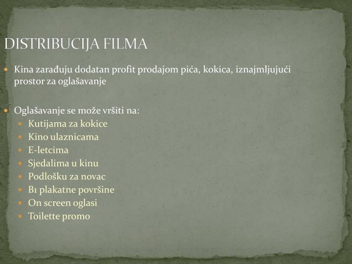 DISTRIBUCIJA FILMA