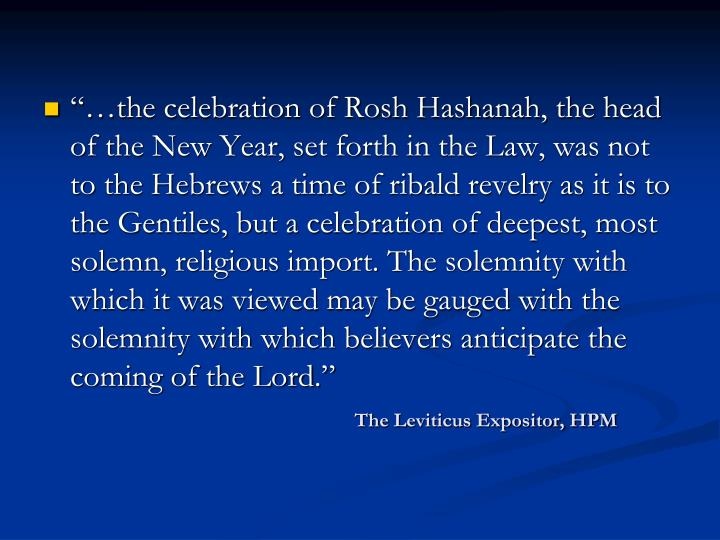 The Leviticus Expositor, HPM