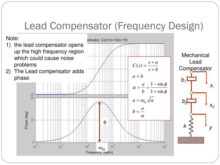 Lead Compensator (Frequency Design)