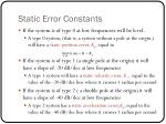 static error constants