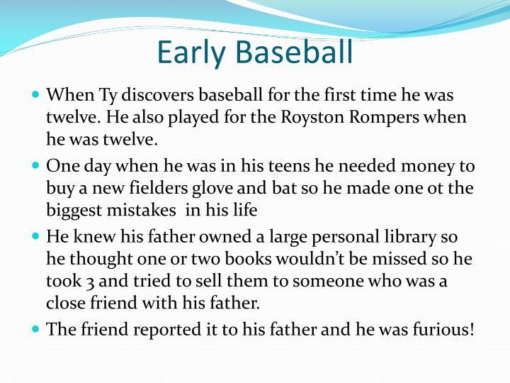 Early Baseball