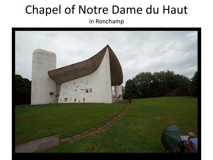 Chapel of Notre Dame du Haut