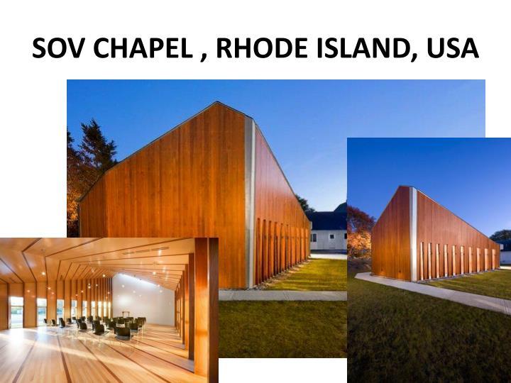 SOV CHAPEL , RHODE ISLAND, USA