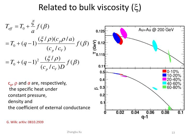 Related to bulk viscosity (