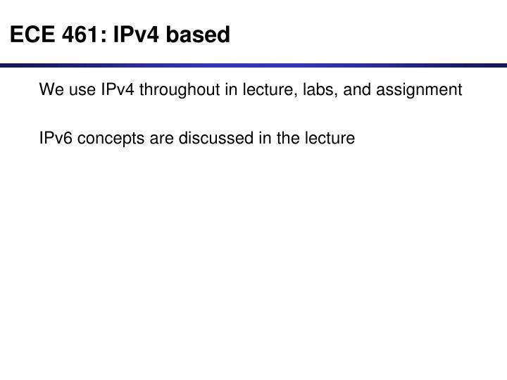 ECE 461: IPv4 based