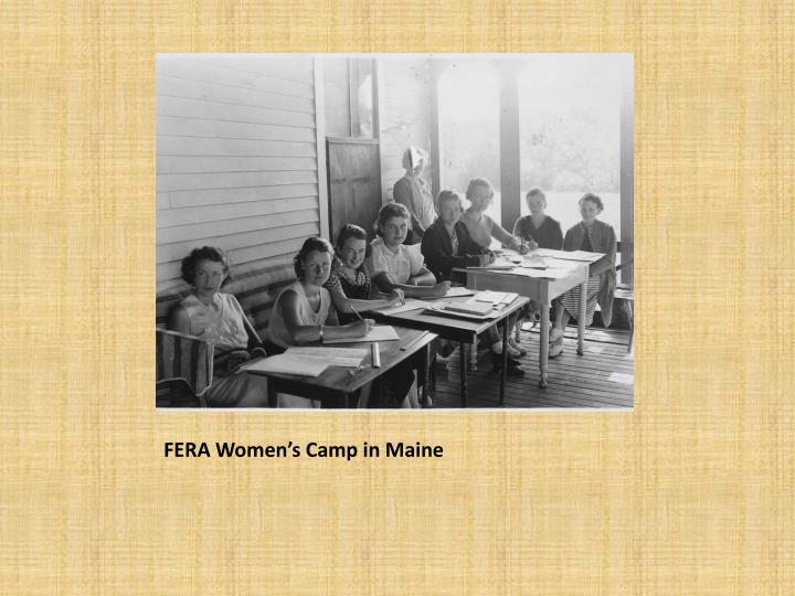 FERA Women's Camp in Maine