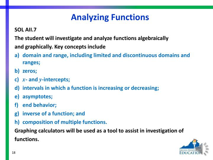 Analyzing Functions