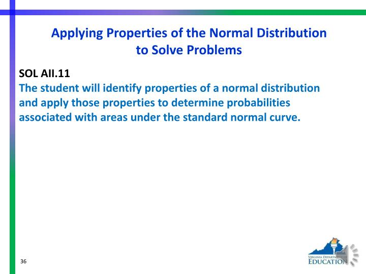 Applying Properties of the Normal Distribution