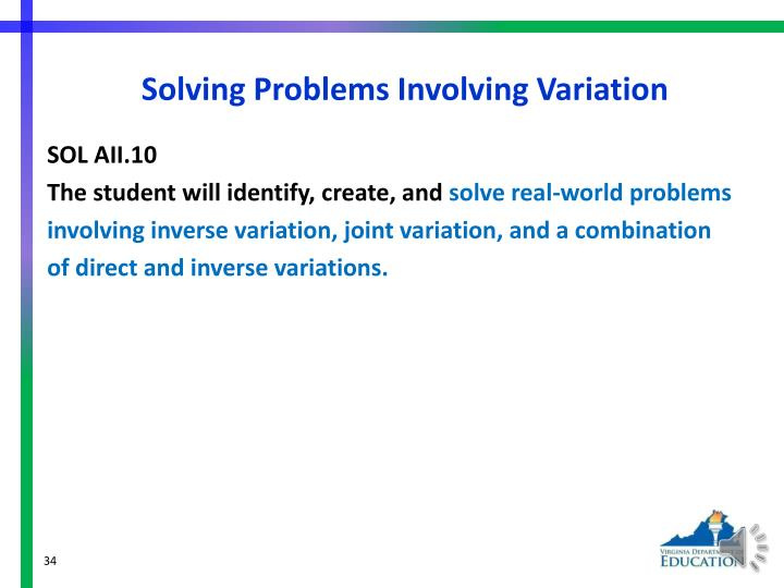 Solving Problems Involving Variation
