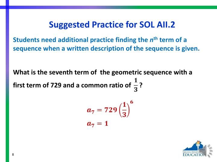 Suggested Practice for SOL AII.2