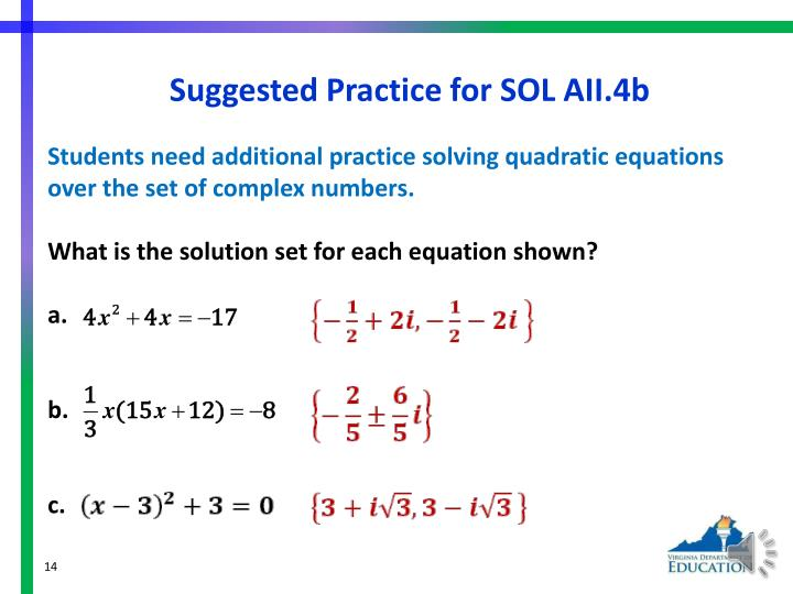 Suggested Practice for SOL AII.4b