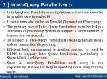 2 inter query parallelism