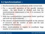 3 synchronization