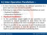 4 inter operation parallelism