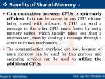 benefits of shared memory
