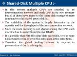 shared disk multiple cpu