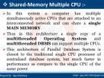 shared memory multiple cpu