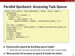 parallel quicksort accessing task queue