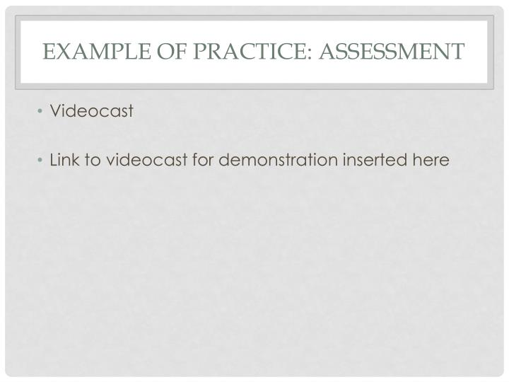 example of practice