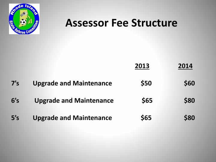 Assessor Fee Structure