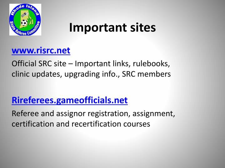 Important sites