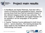 project main results
