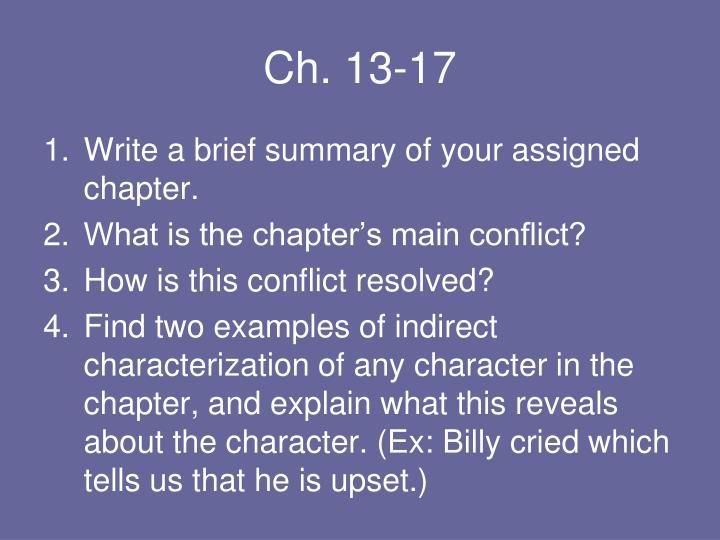 Ch. 13-17