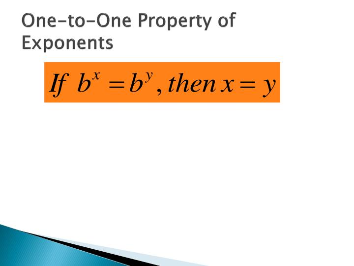 One-to-One Property of Exponents