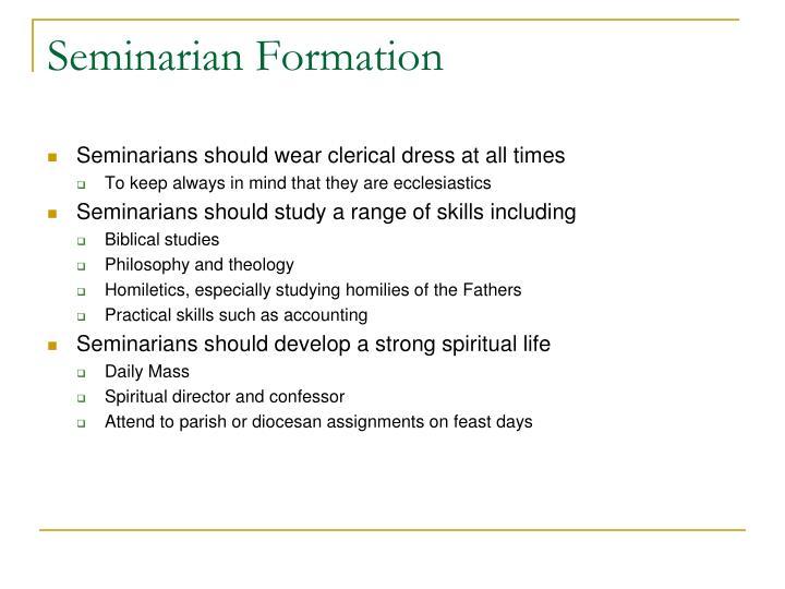 Seminarian Formation