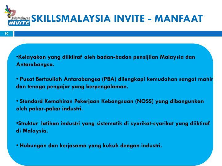 SKILLSMALAYSIA INVITE - MANFAAT