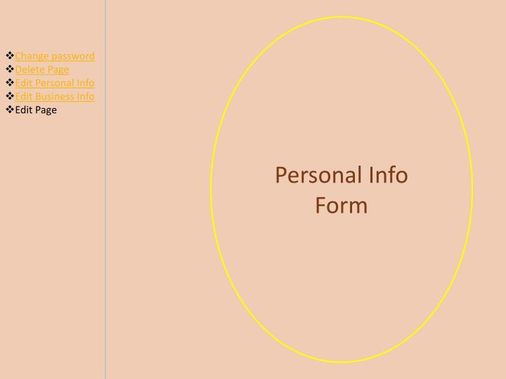 Personal Info Form