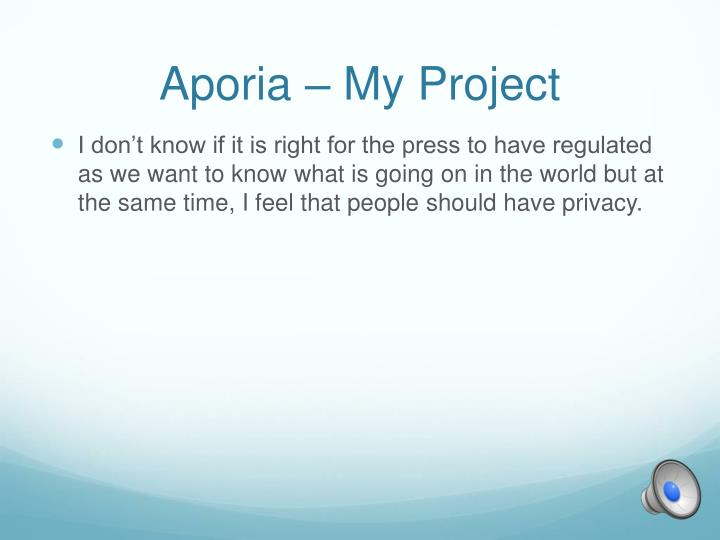 Aporia – My Project
