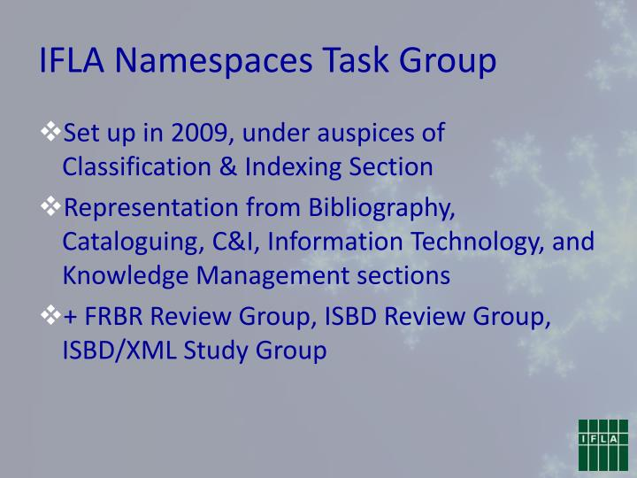 IFLA Namespaces Task Group