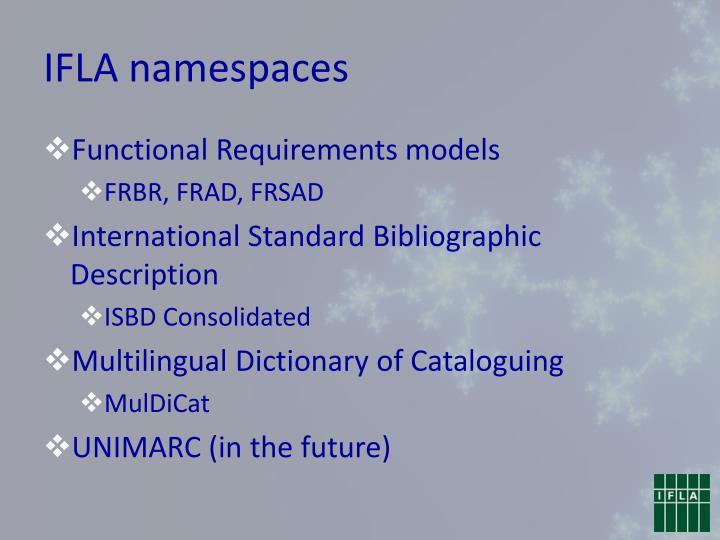 IFLA namespaces