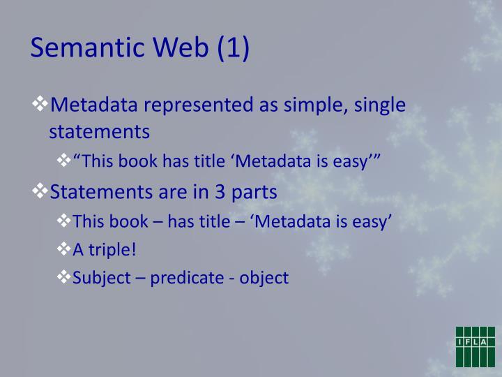 Semantic Web (1)